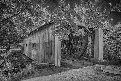 Photograph - Ashtabula Collection - South Denmark Road Covered Bridge  7k0201 by Guy Whiteley