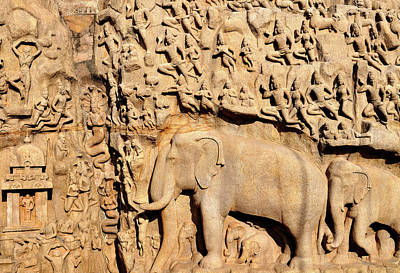 Asia, India, Tamil Nadu, Mahabalipuram Print by Steve Roxbury