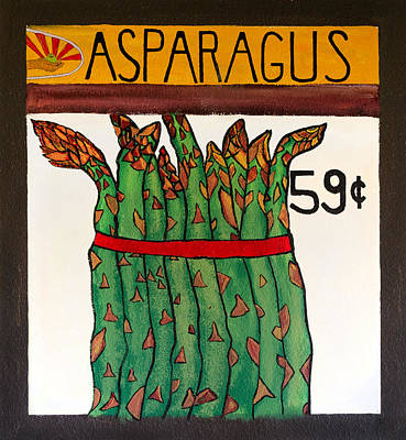 Painting - Asparagus by Curtis Rose