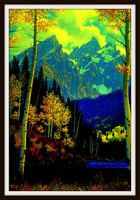 Yellowstone Digital Art - Aspens In Yellowstone National Park by Aron Chervin