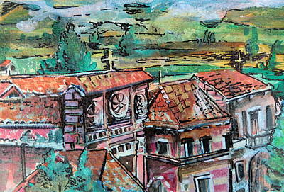 Assisi Italy Original by Mindy Newman