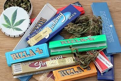 Assorted Cannabis Products Art Print by Adam Hart-davis