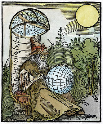 Cosmology Drawing - Astronomer, 1504 by Granger