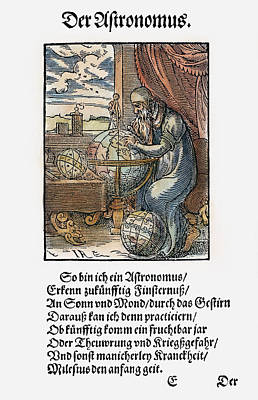 Sphere Painting - Astronomer, 1568 by Granger