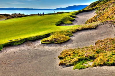 Photograph - #1 At Chambers Bay Golf Course by David Patterson