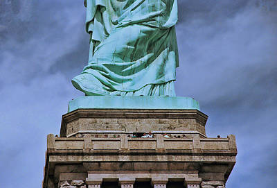Photograph - At The Foot Of Liberty by Allen Beatty