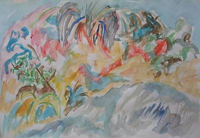 Painting - At The Shore Of The Sea Of Galilee by Esther Newman-Cohen
