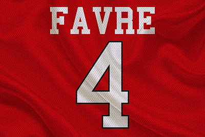 Brett Photograph - Atlanta Falcons Brett Favre by Joe Hamilton