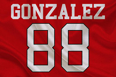 Atlanta Falcons Tony Gonzalez Art Print by Joe Hamilton