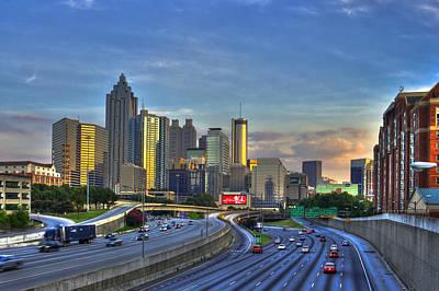 Atlanta Sunset Reflections Art Print by Reid Callaway