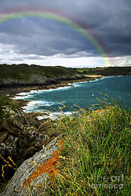 Rainbow Photograph - Atlantic Coast In Brittany by Elena Elisseeva