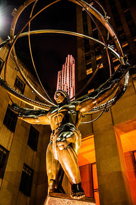 Photograph - Atlas - Rockefeller Center  by James Howe