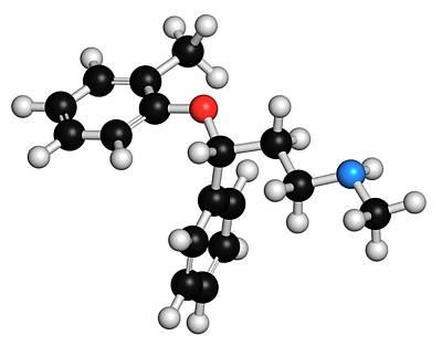 Atomoxetine Adhd Drug Molecule Art Print