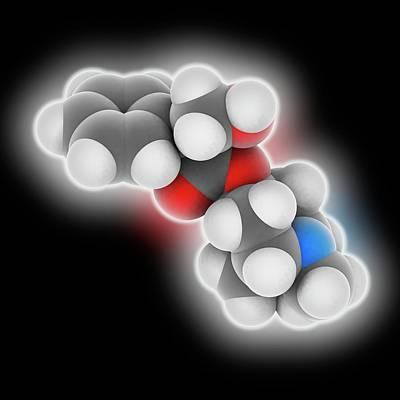 Atropine Drug Molecule Art Print by Laguna Design
