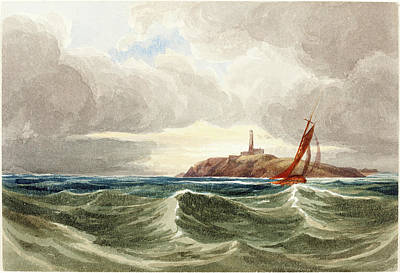 Lighthouse Drawing - Attributed To James Bulwer, British 1794-1879 by Litz Collection