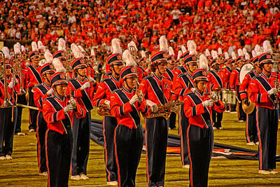 Marching Band Photograph - Auburn University Marching Band by Mountain Dreams