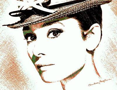 Tiffany Digital Art - Audrey Hepburn by Dan Sproul