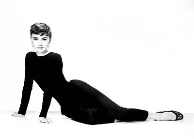 Audrey Hepburn Wall Art - Photograph - Audrey Hepburn by Cool Canvas