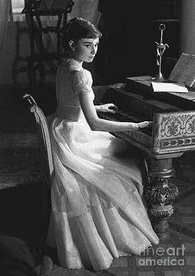 War And Peace Photograph - Audrey Hepburn by George Daniell