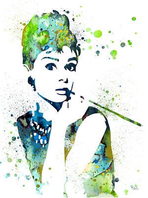 Audrey Hepburn Painting - Audrey Hepburn  by Luke and Slavi