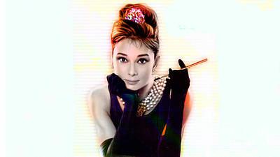 Audrey Hepburn Mixed Media - Audrey Hepburn  by Marvin Blaine