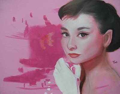 Painting - Audrey Hepburn by Matt Burke