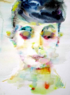 Audrey Hepburn - Watercolor Portrait.8 Original