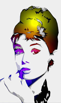 Tiffany Digital Art - Audrey Pop Art by Steve K