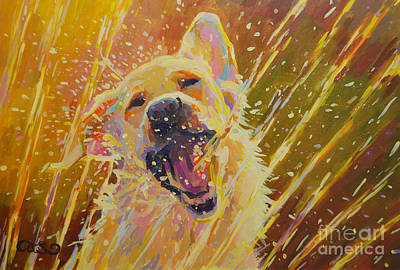 Blondes Painting - August by Kimberly Santini