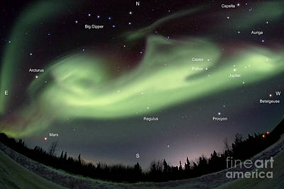 Capella Photograph - Aurora Borealis, Alaska, 3212014 by John Chumack