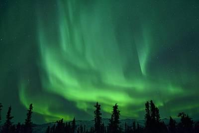 Winter Light Photograph - Aurora Borealis by Christian Heeb