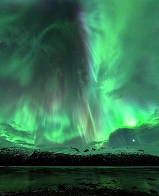 Aurora Borealis During Geomagnetic Storm Art Print by Tommy Eliassen