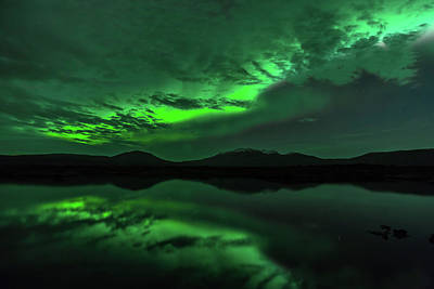 Photograph - Aurora Borealis In Iceland by Nurdugphotos