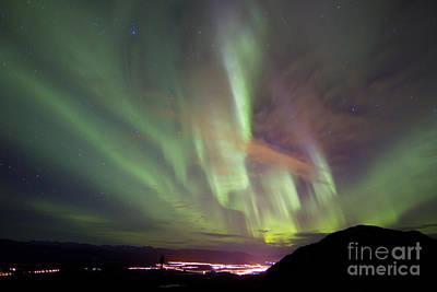 Photograph - Aurora Borealis Over Gray Peak by Joseph Bradley