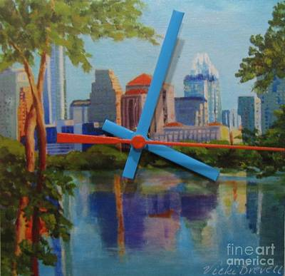 Mixed Media - Austin Morning by Vicki Brevell