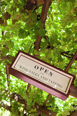 Winery Signs Photograph - Australia, Barossa Valley, Angaston by Walter Bibikow