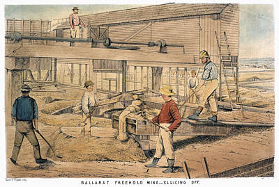 Australia Gold Mine, 1867 Art Print by Granger
