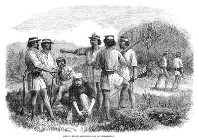 Australian Native Painting - Australia Queensland, 1863 by Granger