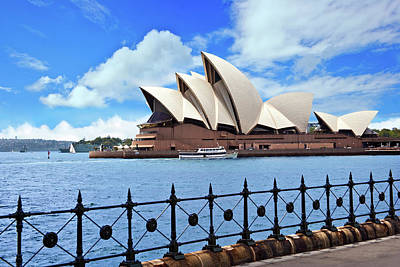 Wrought Iron Fence Photograph - Australia, Sydney, New South Wales by Miva Stock