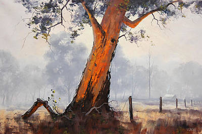 Gum-tree Painting - Australian Eucalyptus Tree by Graham Gercken