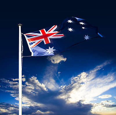 Flagpole Photograph - Australian Flag by Jorgo Photography - Wall Art Gallery