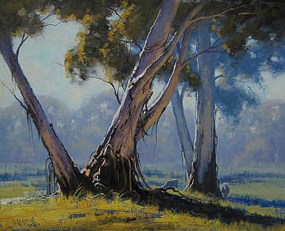River Gums Painting - Australian Gums by Graham Gercken