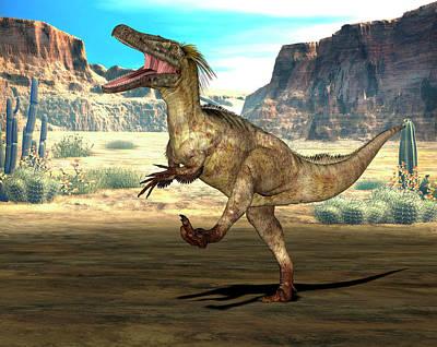 Austroraptor Dinosaur Art Print
