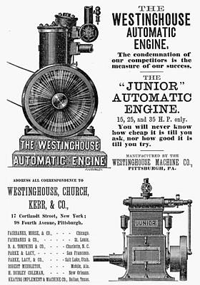 Automatic Engine, 1886 Art Print