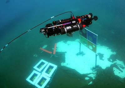 Autonomous Underwater Vehicle Competition Art Print by U.s. Navy