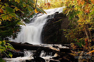 Photograph - Autumn At Cattyman Falls by Larry Ricker
