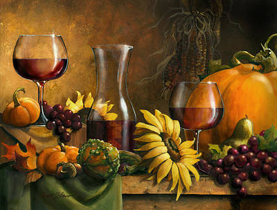 Americana Licensing Painting - Autumn Bounty by Janet Stever