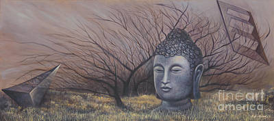 Painting - Autumn Buddha by Birgit Seeger-Brooks