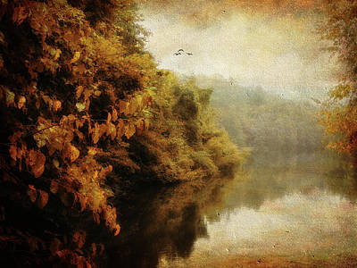 Autumn Landscape Digital Art - Autumn Canvas by Jessica Jenney