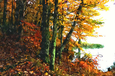 Autumn Colors In The Forest 1 Print by Lanjee Chee